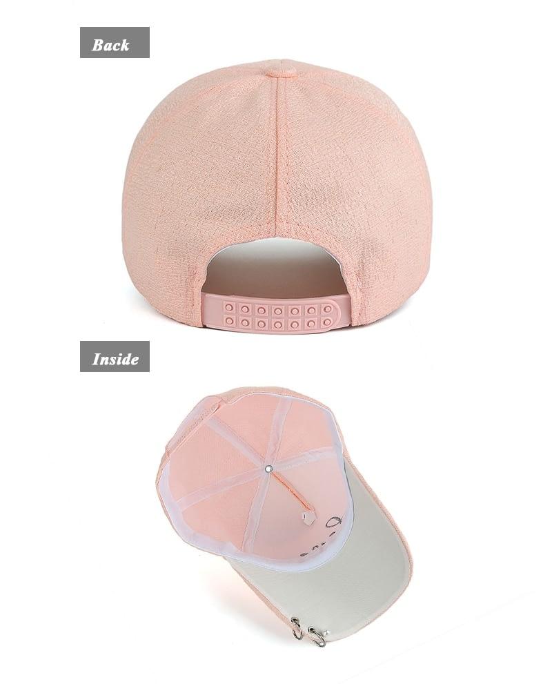 """New Snapback Cap, Metal Hoop Bead On Visor, """" Love"""" Embroidery Hat 8"""
