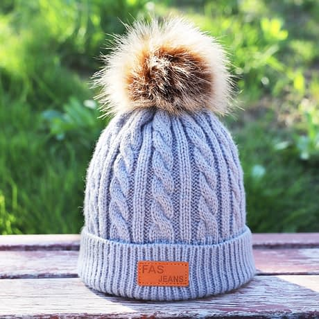 Children's Autumn, Winter Knitted Cotton Hat, Warm, Comfortable Solid Color Fashion Cap 1
