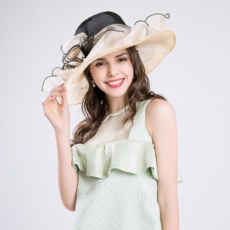 Summer Fashion Aristocratic Sombreros Hat, Wide Large Brim, Elegant Flower, Ladies Hat 2