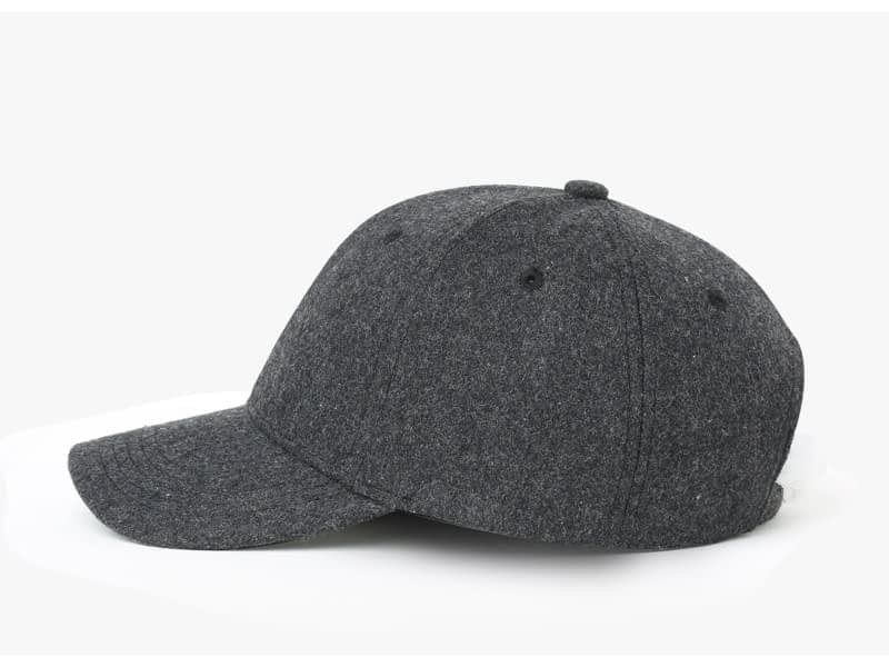 Brand NUZADA Autumn Winter Keep Warm Snapback Bone Men Women Baseball Caps Hats Cap Simpl Color Black Grey Woolen 12
