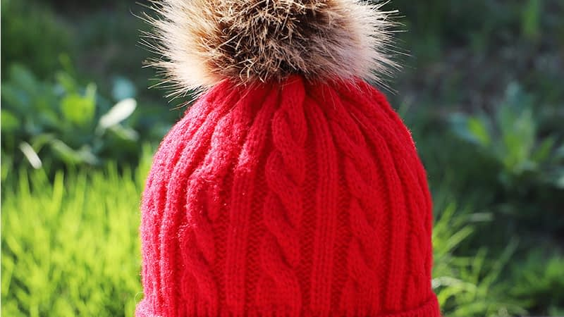 Children's Autumn, Winter Knitted Cotton Hat, Warm, Comfortable Solid Color Fashion Cap 10