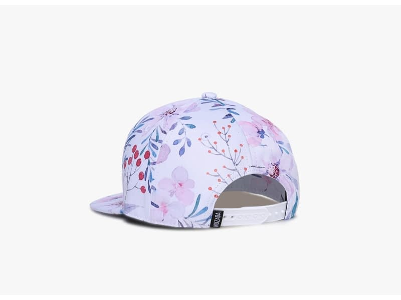 3D Printing Cap, Small Fresh Flowers Women Baseball Cap, Bone Cotton Adjustable Snapback 5