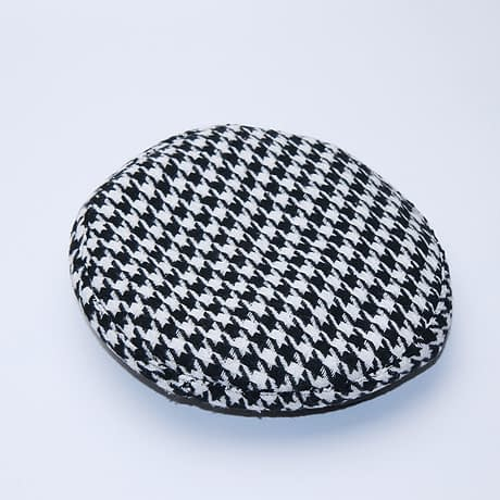 New Plaid Beret Hat, Women's French Beret, Hounds Tooth Beret, Adjustable 1