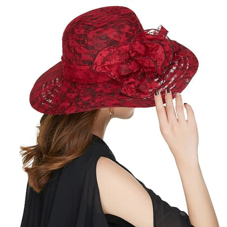 Elegant Fashion Hat, Women's Sexy Floral, Crown Vintage Style, Dressy Sun Hat 4