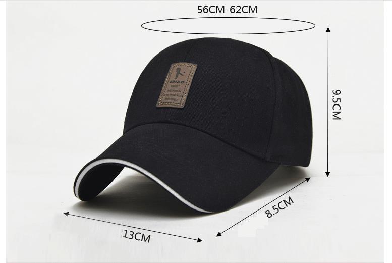 Men's New Cap Baseball Cap, Snapback Cap, Adjustable Hat 122