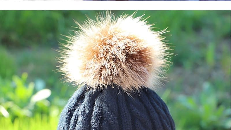 Children's Autumn, Winter Knitted Cotton Hat, Warm, Comfortable Solid Color Fashion Cap 15