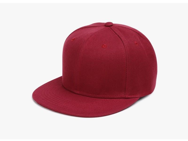 Polyester Cotton Unisex Hip Hop Cap, Simple Classic Caps 7