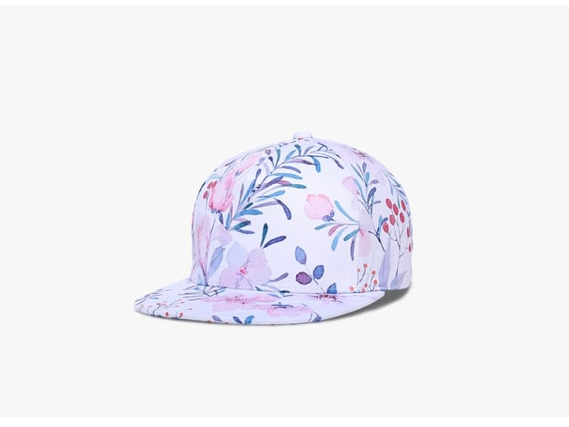 3D Printing Cap, Small Fresh Flowers Women Baseball Cap, Bone Cotton Adjustable Snapback 2