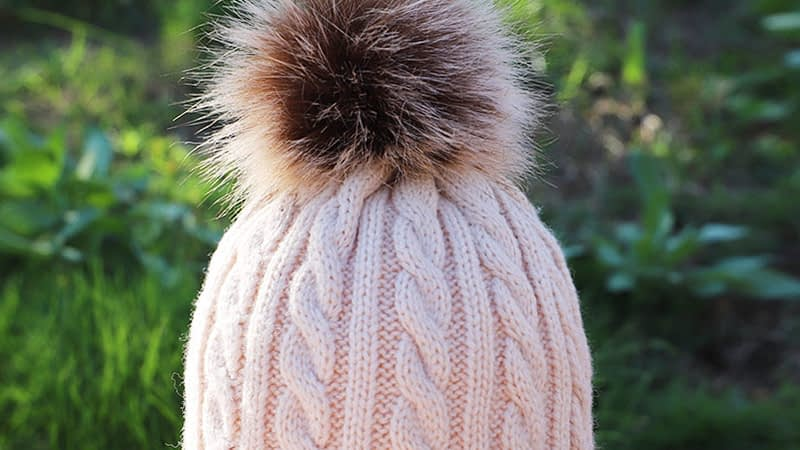Children's Autumn, Winter Knitted Cotton Hat, Warm, Comfortable Solid Color Fashion Cap 17