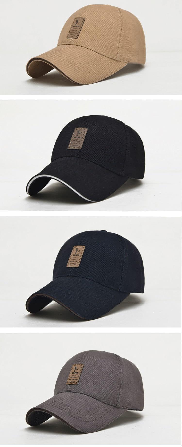 Men's New Cap Baseball Cap, Snapback Cap, Adjustable Hat 124