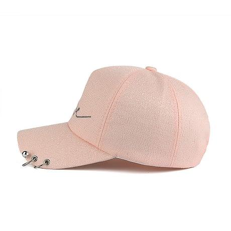 """New Snapback Cap, Metal Hoop Bead On Visor, """" Love"""" Embroidery Hat 2"""