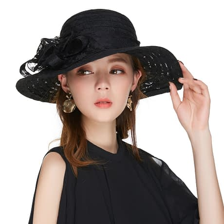 Elegant Fashion Hat, Women's Sexy Floral, Crown Vintage Style, Dressy Sun Hat 2