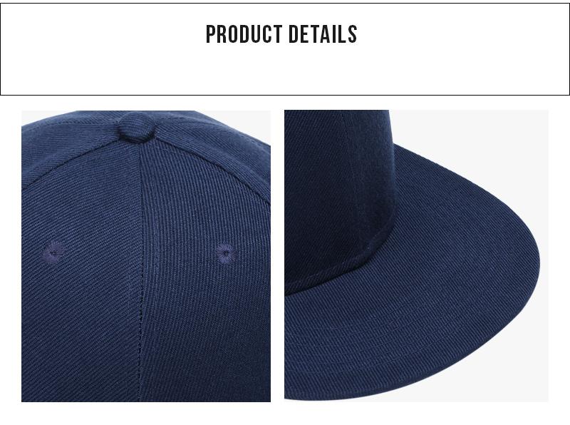 Polyester Cotton Unisex Hip Hop Cap, Simple Classic Caps 13