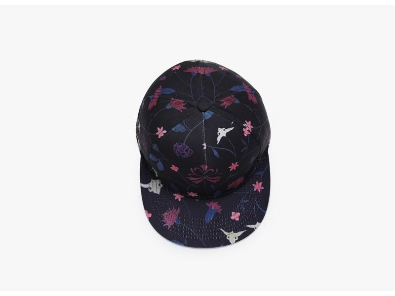 Unisex 3D Printing Hip Hop Cap, Fashion Design Flowers Polyester Cotton Neutral Cap 7