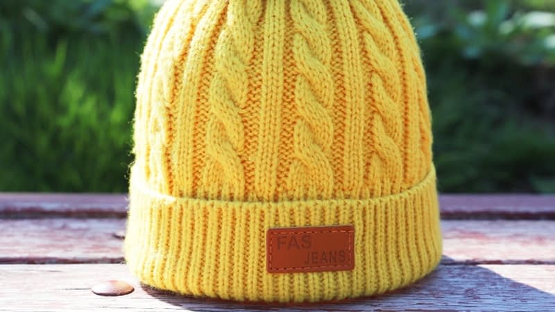 Children's Autumn, Winter Knitted Cotton Hat, Warm, Comfortable Solid Color Fashion Cap 14