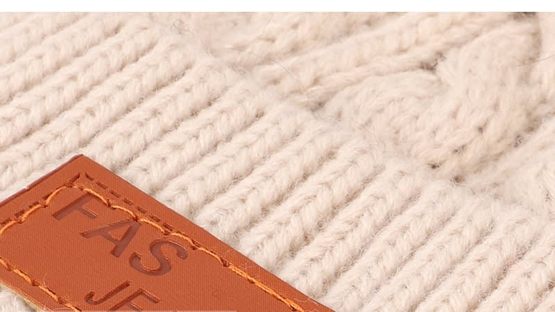 Children's Autumn, Winter Knitted Cotton Hat, Warm, Comfortable Solid Color Fashion Cap 20