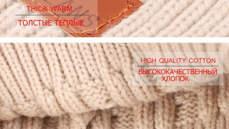 Children's Autumn, Winter Knitted Cotton Hat, Warm, Comfortable Solid Color Fashion Cap 21