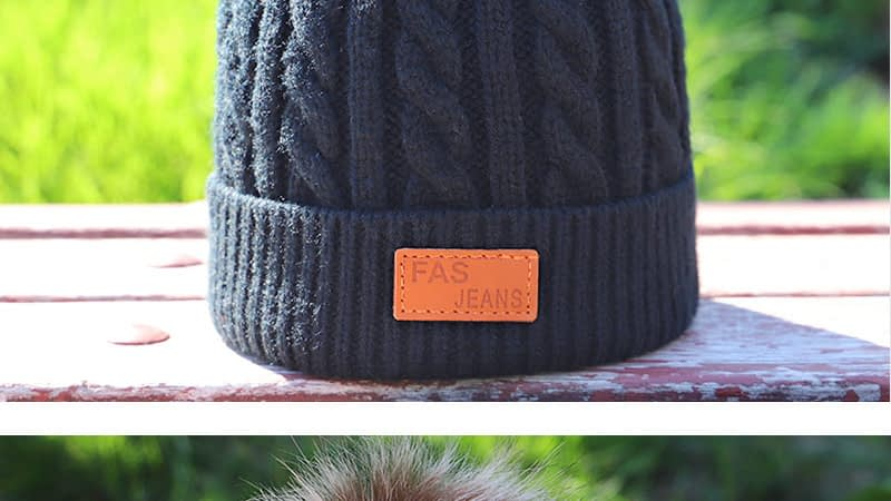 Children's Autumn, Winter Knitted Cotton Hat, Warm, Comfortable Solid Color Fashion Cap 16