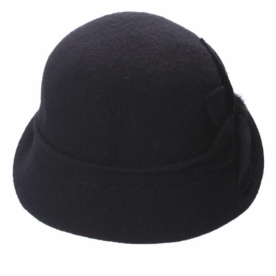 Women Cloche Hat, Wool Fedoras Hat, , Women's Fashion Soft Leaves Fur Bobbles Bucket Hat 18