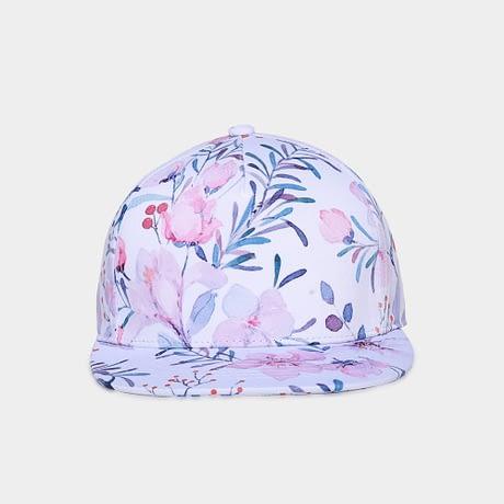 3D Printing Cap, Small Fresh Flowers Women Baseball Cap, Bone Cotton Adjustable  Snapback 1