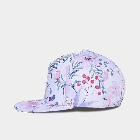 3D Printing Cap, Small Fresh Flowers Women Baseball Cap, Bone Cotton Adjustable  Snapback 2