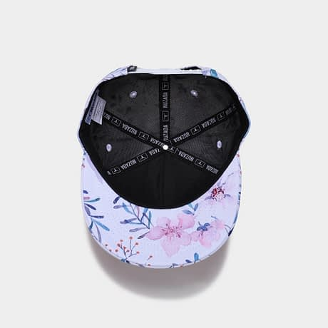 3D Printing Cap, Small Fresh Flowers Women Baseball Cap, Bone Cotton Adjustable  Snapback 5