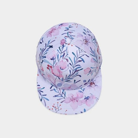 3D Printing Cap, Small Fresh Flowers Women Baseball Cap, Bone Cotton Adjustable  Snapback 4