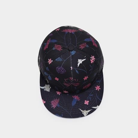 Unisex 3D Printing Hip Hop Cap, Fashion Design Flowers Polyester Cotton Neutral Cap 4