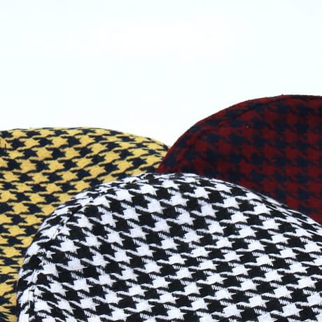 New Plaid Beret Hat, Women's French Beret, Hounds Tooth Beret, Adjustable 4