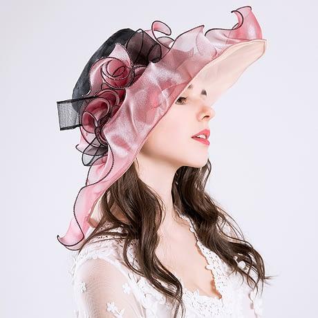 Summer Fashion Aristocratic Sombreros Hat, Wide Large Brim, Elegant Flower, Ladies Hat 4