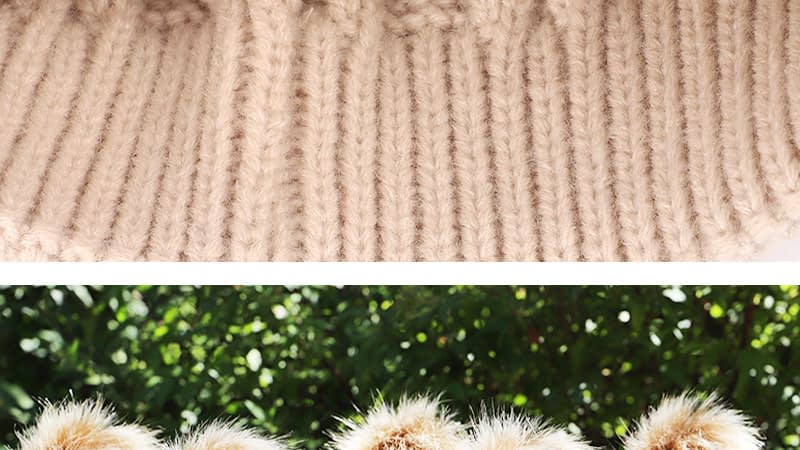 Children's Autumn, Winter Knitted Cotton Hat, Warm, Comfortable Solid Color Fashion Cap 22
