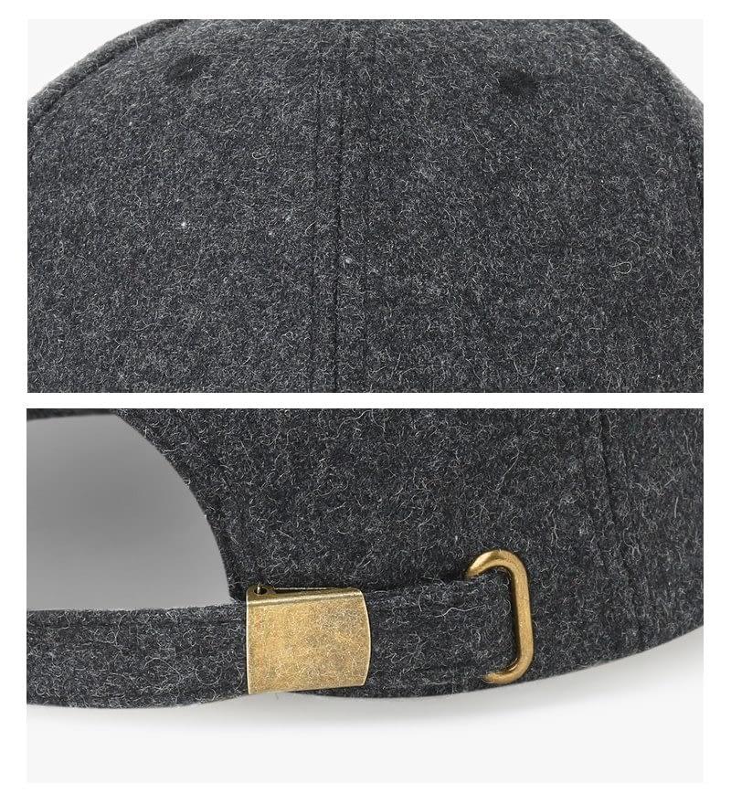 Brand NUZADA Autumn Winter Keep Warm Snapback Bone Men Women Baseball Caps Hats Cap Simpl Color Black Grey Woolen 16