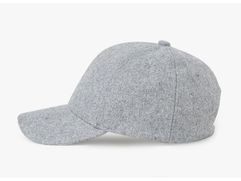 Brand NUZADA Autumn Winter Keep Warm Snapback Bone Men Women Baseball Caps Hats Cap Simpl Color Black Grey Woolen 7