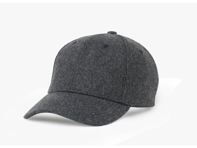 Brand NUZADA Autumn Winter Keep Warm Snapback Bone Men Women Baseball Caps Hats Cap Simpl Color Black Grey Woolen 11