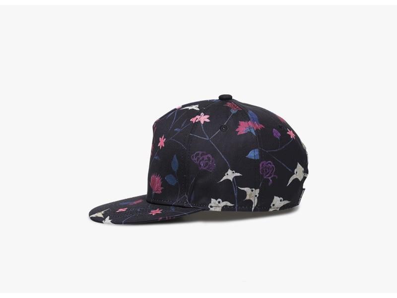 Unisex 3D Printing Hip Hop Cap, Fashion Design Flowers Polyester Cotton Neutral Cap 5