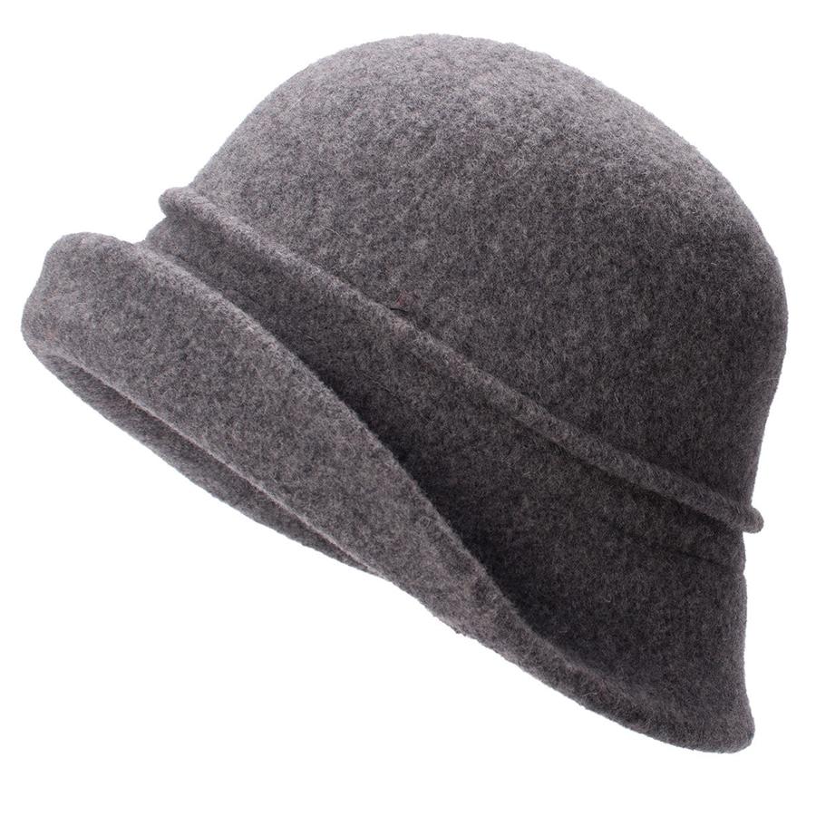 Women Cloche Hat, Wool Fedoras Hat, , Women's Fashion Soft Leaves Fur Bobbles Bucket Hat 23