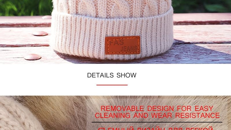 Children's Autumn, Winter Knitted Cotton Hat, Warm, Comfortable Solid Color Fashion Cap 18