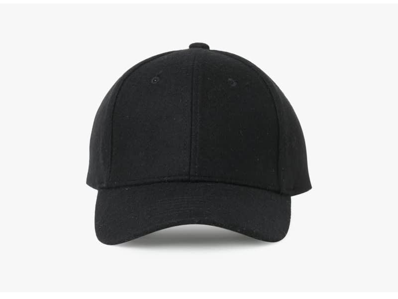 Brand NUZADA Autumn Winter Keep Warm Snapback Bone Men Women Baseball Caps Hats Cap Simpl Color Black Grey Woolen 1