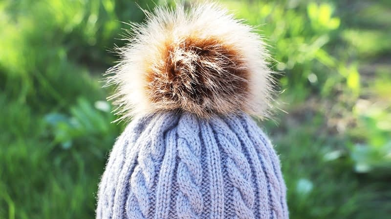 Children's Autumn, Winter Knitted Cotton Hat, Warm, Comfortable Solid Color Fashion Cap 8