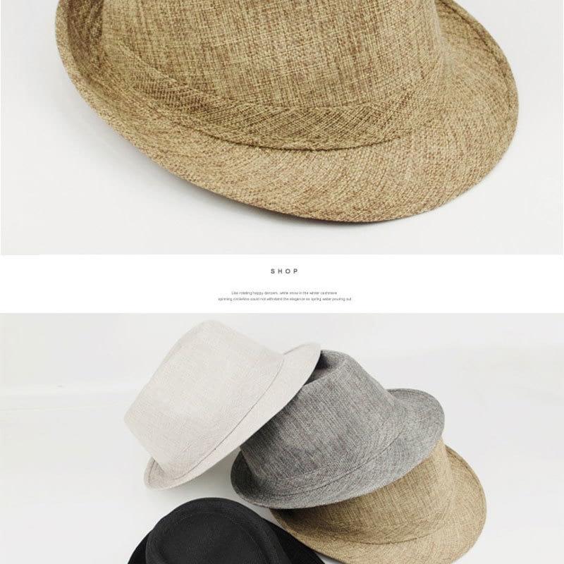 Pure Men's Brim Cap, English Classic Style, Formal Hat, Jazz Hat, Vintage Cap 128
