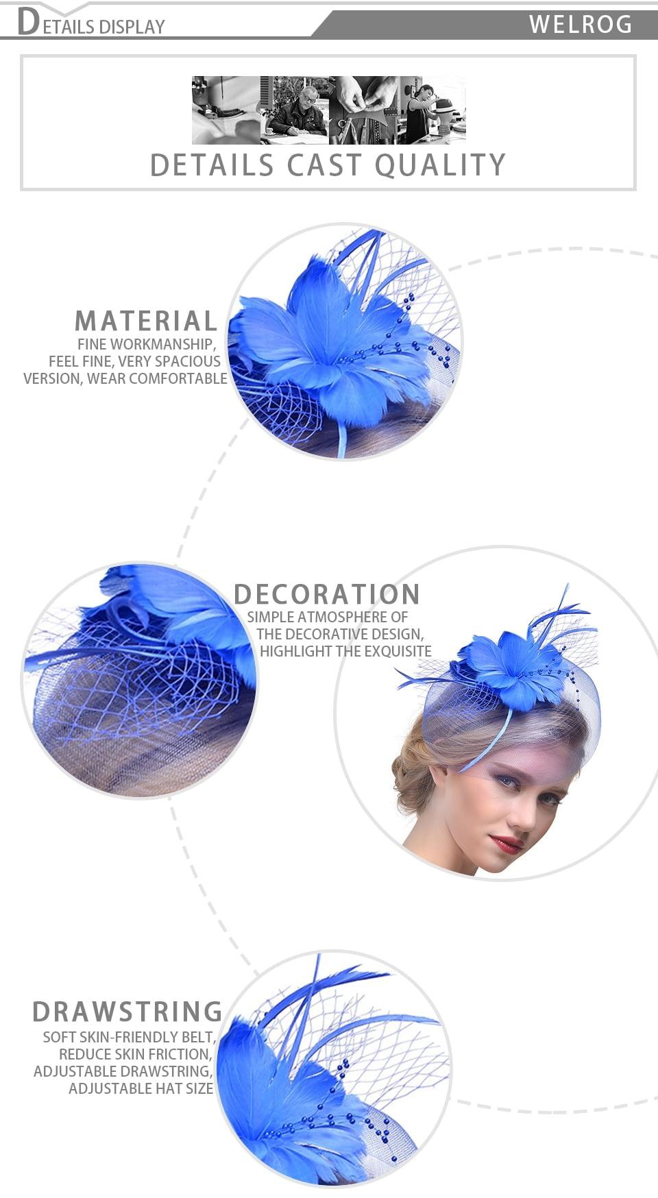 Fashion Feather Cap, Lady Cocktail Dinner, Formal Vintage Sombreros, Chapeau Fascinators Hat 13