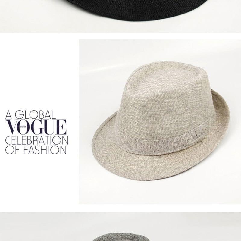 Pure Men's Brim Cap, English Classic Style, Formal Hat, Jazz Hat, Vintage Cap 126