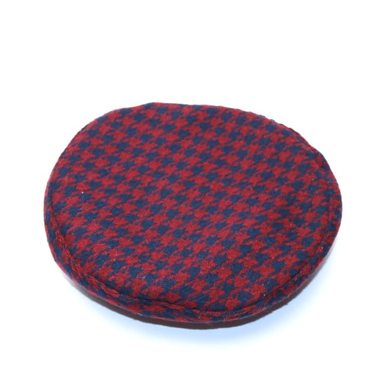 New Plaid Beret Hat, Women's French Beret, Hounds Tooth Beret, Adjustable 16